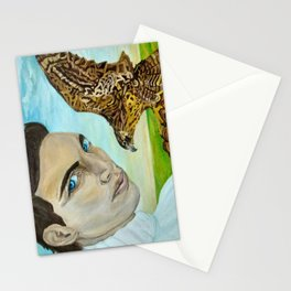 """""""Peale's (Peregrine) Falcon and the Portrait of a Man"""". Stationery Cards"""