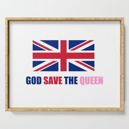motto of uk 2– god save the queen Serving Tray