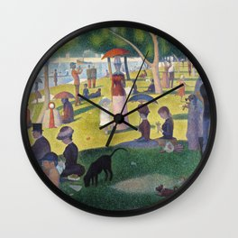 A Sunday on La Grande Jatte by Georges Seurat, 1884 Wall Clock