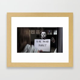 Michael Myers in Love Actually Framed Art Print