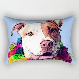 Dog in Flowers Rectangular Pillow