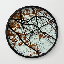 meticulous maple veins Wall Clock