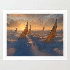 Cloud Regatta Art Print