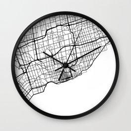 TORONTO CANADA BLACK CITY STREET MAP ART Wall Clock