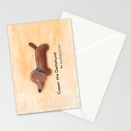 Copper the Dachshund by leatherprince Stationery Cards