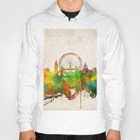 london map Hoodies featuring London  by Bekim ART