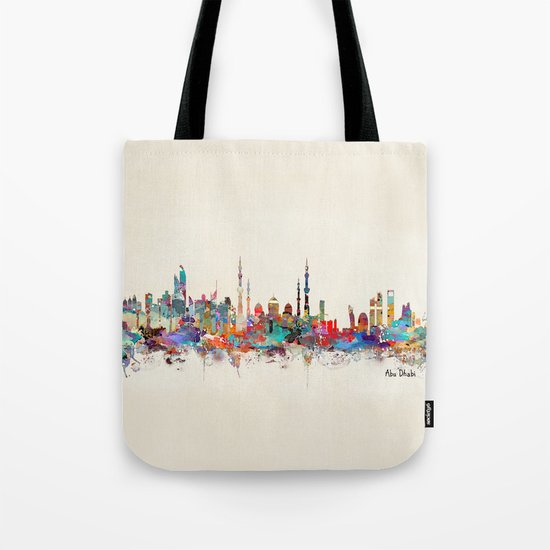 Abu Dhabi skyline Tote Bag