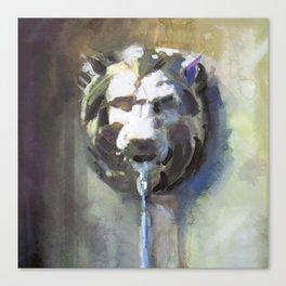 Lionhead Fountain Canvas Print