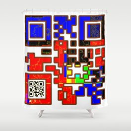 Confidence QR Code Shower Curtain