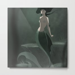 Dark mermaid Metal Print