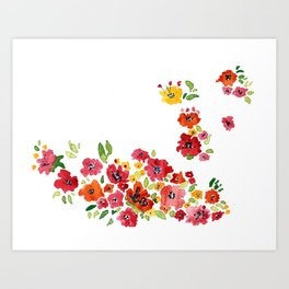 the daily creative project: romantic flowers Art Print