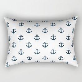 Navy Anchors Rectangular Pillow