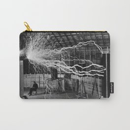 NIKOLA TESLA AT WORK Carry-All Pouch