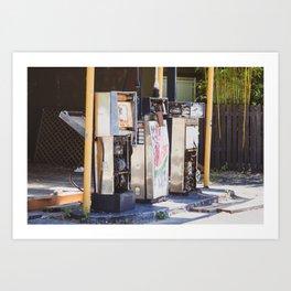 Abandoned Gas Station. Australia. Art Print