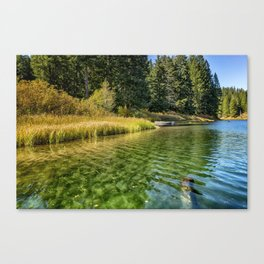 Jewel Like Tones of Clear Lake Canvas Print