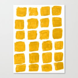 Yellowed Squared Canvas Print
