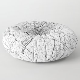 Luxembourg Map White Floor Pillow