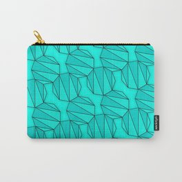 Enneagons - Teal Carry-All Pouch