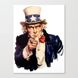 Uncle Sam Pointing Finger Canvas Print