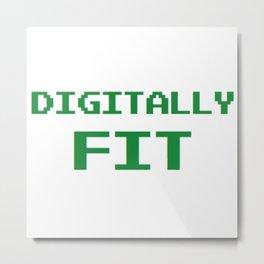 Digital Fitness Metal Print