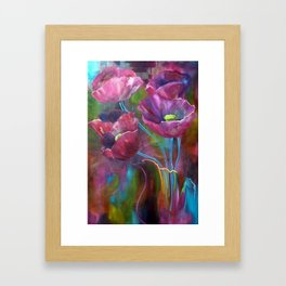 'Abstract Poppies' Framed Art Print