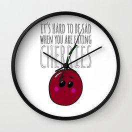 Cherry Cherries Foodie Design Wall Clock