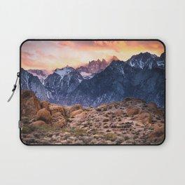 Mount Whitney and Alabama Hills Sunset Laptop Sleeve