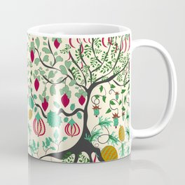 Fairy seamless pattern garden with plants, tree and flowers Coffee Mug