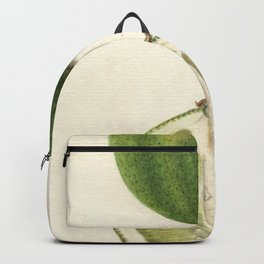 Vintage Illustration of a Lime Backpack