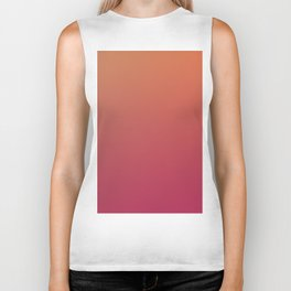 HOT AND DARK - Minimal Plain Soft Mood Color Blend Prints Biker Tank