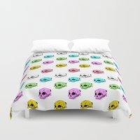 sarcasm Duvet Covers featuring Dripping With Sarcasm by zombieCraig