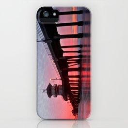 Christmas Sunset 2012 ~ Huntington Beach Pier, CA iPhone Case