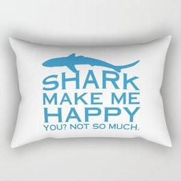 Sharks Make Me Happy Rectangular Pillow