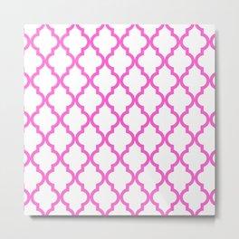 Pink Moroccan Pattern Metal Print