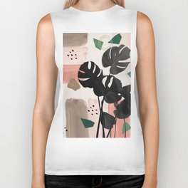 Monstera Summer Glam #2 #tropical #decor #art #society6 Biker Tank