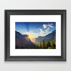 Yosemite Sunburst Framed Art Print