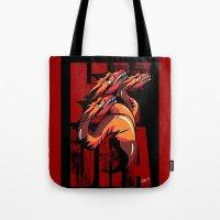 hydra Tote Bags featuring Hydra by John Hernandez Art