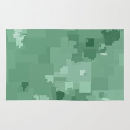 Grayed Jade Square Pixel Color Accent Rug