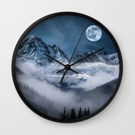 Misty Mountains Wall Clock