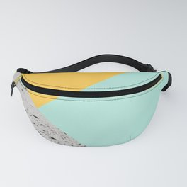 Yellow and Mint meets Concrete Geometric #1 #minimal #decor #art #society6 Fanny Pack