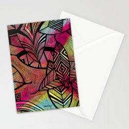 Crazy Leaves  Stationery Cards