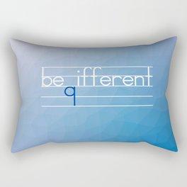 Be Different Typography Design Rectangular Pillow