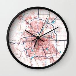 Denver's POP urban map Wall Clock