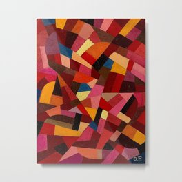Komposition 1940 Mid Century Modern Abstract Geometric Colorful Pattern Painting Otto Freundlich Metal Print