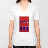 uk V-neck T-shirts featuring UK by Marcus Wild