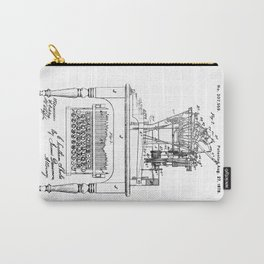 QWERTY Typewriter: Christopher Latham Sholes QWERTY Typewriter Patent Carry-All Pouch