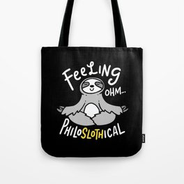 Yoga Design: Philoslothical Sloth Tote Bag