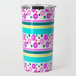 COLORFUL FLOWER Travel Mug