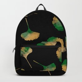 Ginkgo biloba leaves black Backpack