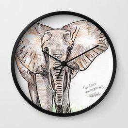 Inktober #3 2017 - Elephant Wall Clock